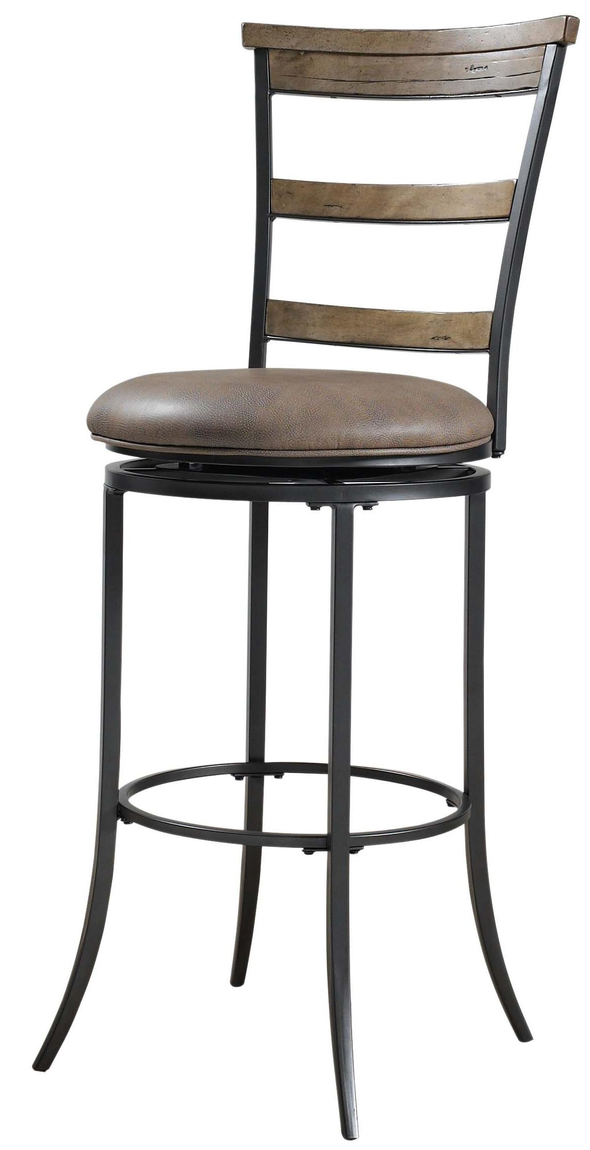 Charleston Swivel Ladder Back Bar Stool By Hillsdale