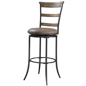 Hillsdale Metal Stools Charleston Swivel Ladder Back Counter Stool