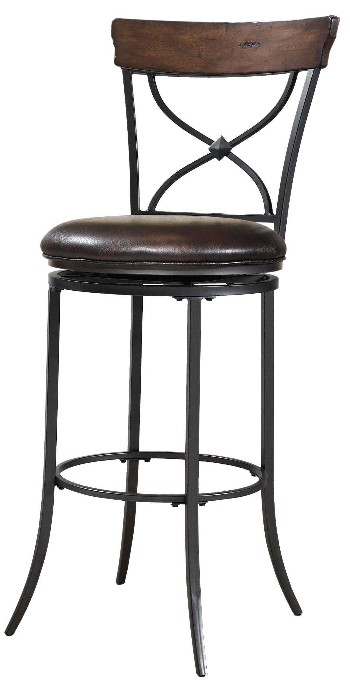 Pleasing Cameron Swivel X Back Counter Stool By Hillsdale Wolf Beatyapartments Chair Design Images Beatyapartmentscom