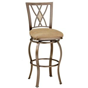 "Hillsdale Metal Stools 30"" Bar Height Brookside Stool"