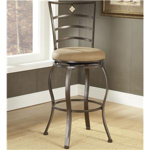 "Hillsdale Metal Stools 30"" Bar Height Marin Swivel Stool"
