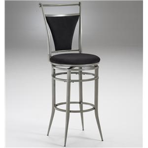 "Hillsdale Metal Stools 30"" Bar Height Pewter Cierra Stool"