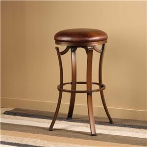 Hillsdale Metal Stools Kelford Backless Swivel Counter Stool