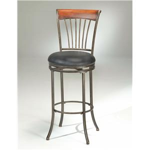 Hillsdale Metal Stools Riley Wood Swivel Counter Stool
