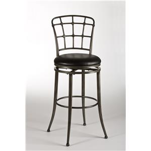 Hillsdale Metal Stools Claymont Swivel Bar Stool