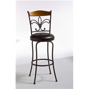 Hillsdale Metal Stools Colfax Swivel Bar Stool