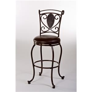 Hillsdale Metal Stools Scarton Swivel Counter Stool