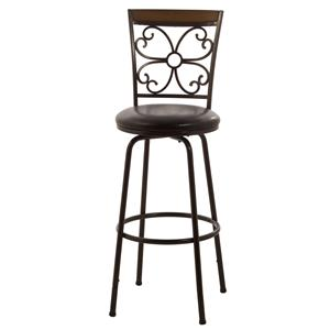 Hillsdale Metal Stools Garrison Swivel Counter/ Bar Stool