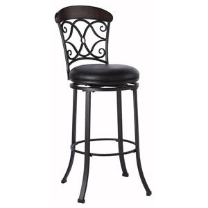 "Hillsdale Metal Stools 26"" Counter Height Trevelian Swivel Stool"