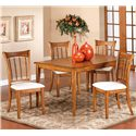 Hillsdale Bayberry and Glenmary Five Piece Rectangle Dining Set - Item Number: 4766DTBCRCT