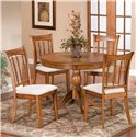 Hillsdale Bayberry and Glenmary Five Piece Round Dining Set - Item Number: 4766DTBCRND