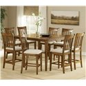 Hillsdale Bayberry and Glenmary Nine-Piece Counter Height Dining Set - Item Number: 4766DTBSG9