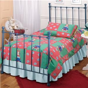 Hillsdale Metal Beds Twin Blue Molly Bed