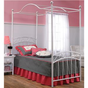 Hillsdale Metal Beds Twin Emily Canopy Bed