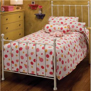 Hillsdale Metal Beds Twin White Molly Bed