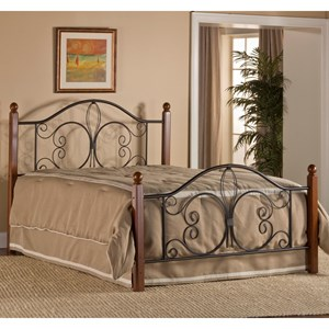 Queen Milwaukee Wood Post Bed with Bed Frame