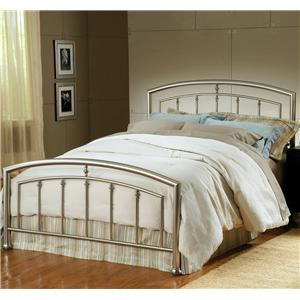 Hillsdale Metal Beds Queen Claudia Bed with Rails