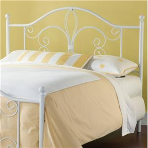 Hillsdale Metal Beds Ruby King Headboard with Rails