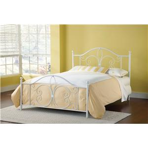 Hillsdale Metal Beds Ruby Queen Bed Without Rails