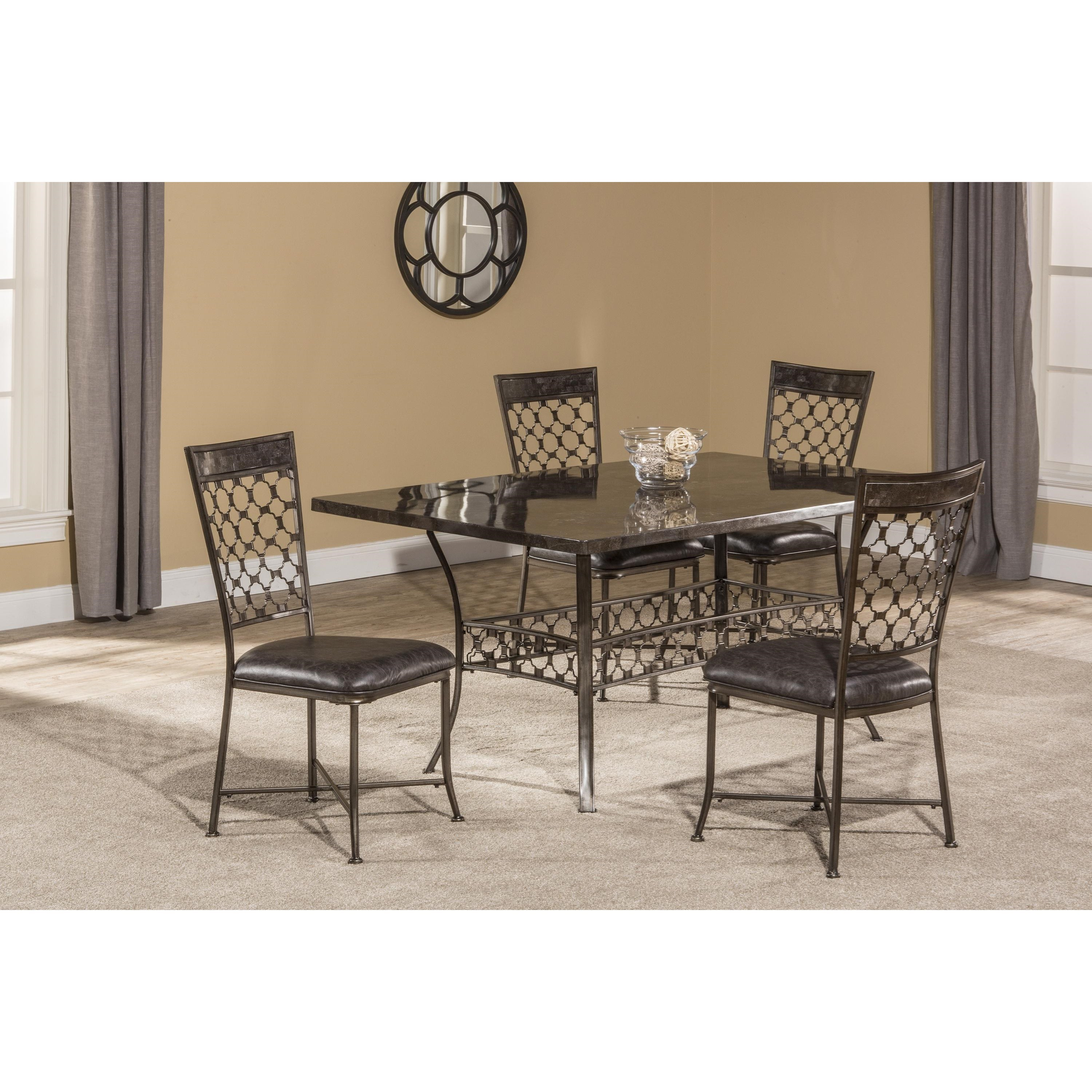 Rectangle Dining Table with Bluestone Top by Hillsdale | Wolf and ...