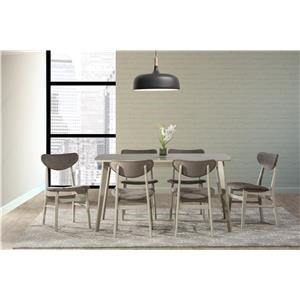 Rectangular Table and 6 Side Chairs