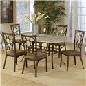 Hillsdale Brookside Oval Fossil Back Dining Chair - Shown with Rectangle Dining Table