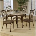 Hillsdale Brookside Oval Fossil Back Dining Chair - Shown with Round Dining Table