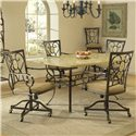 Hillsdale Brookside Oval Caster Dining Chair - Shown with Rectangle Dining Table