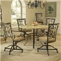 Hillsdale Brookside Oval Caster Dining Chair - Shown with Round Dining Table