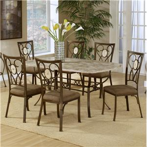 Hillsdale Brookside Seven Piece Dining Set