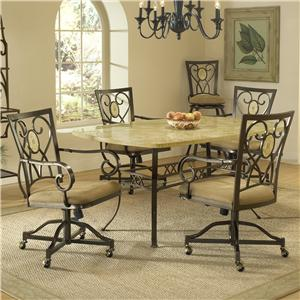 Hillsdale Brookside Five Piece Rectangle Dining Set