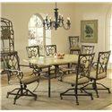 Hillsdale Brookside Seven Piece Rectangle Dining Set - Item Number: 4815DTBCOVC7