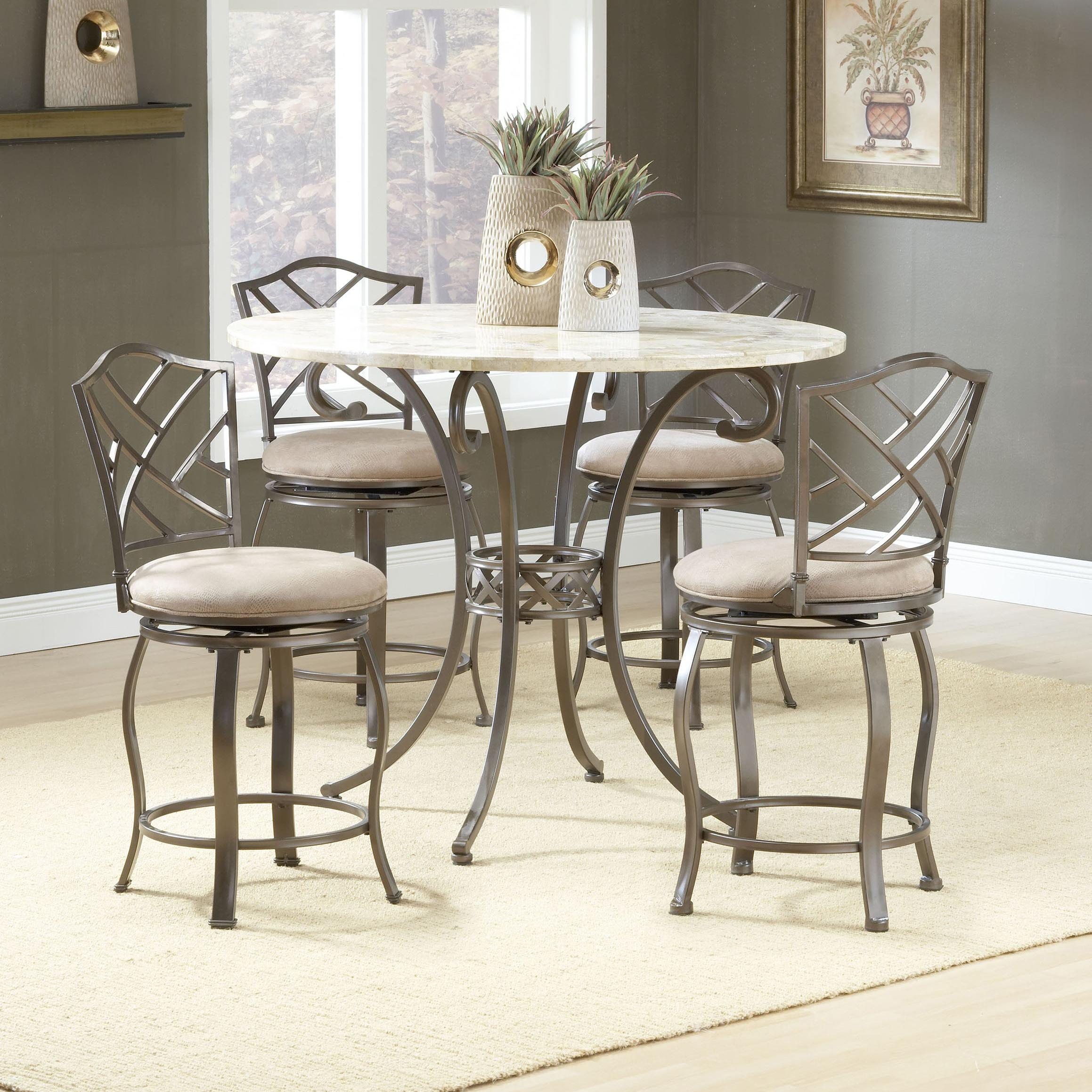 Five Piece Counter Height Dining Set