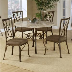 Hillsdale Brookside Five Piece Round Dining Set