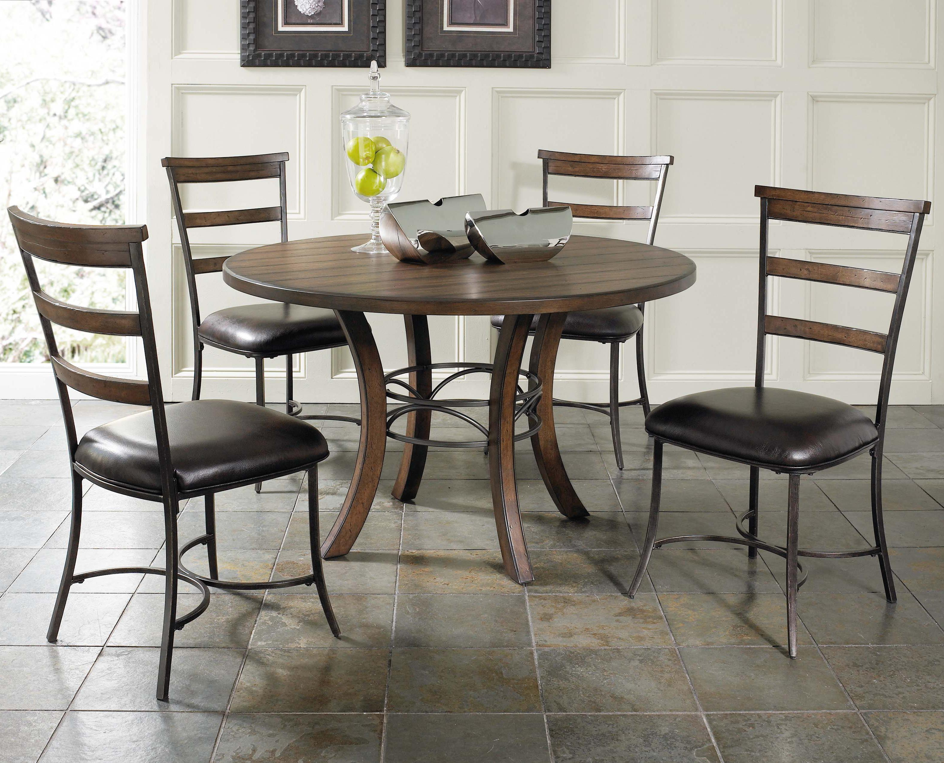 Wood And Metal Round Dining Table Part - 34: Round Dining Table