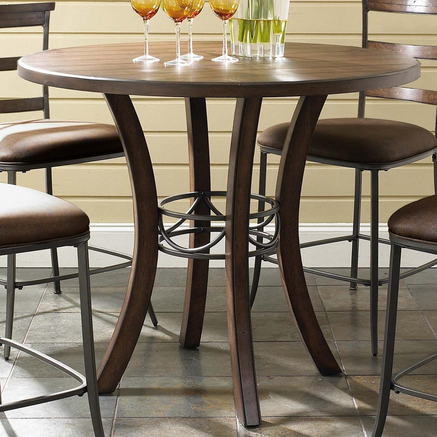 Round Wood Counter Height Table By Hillsdale Wolf And
