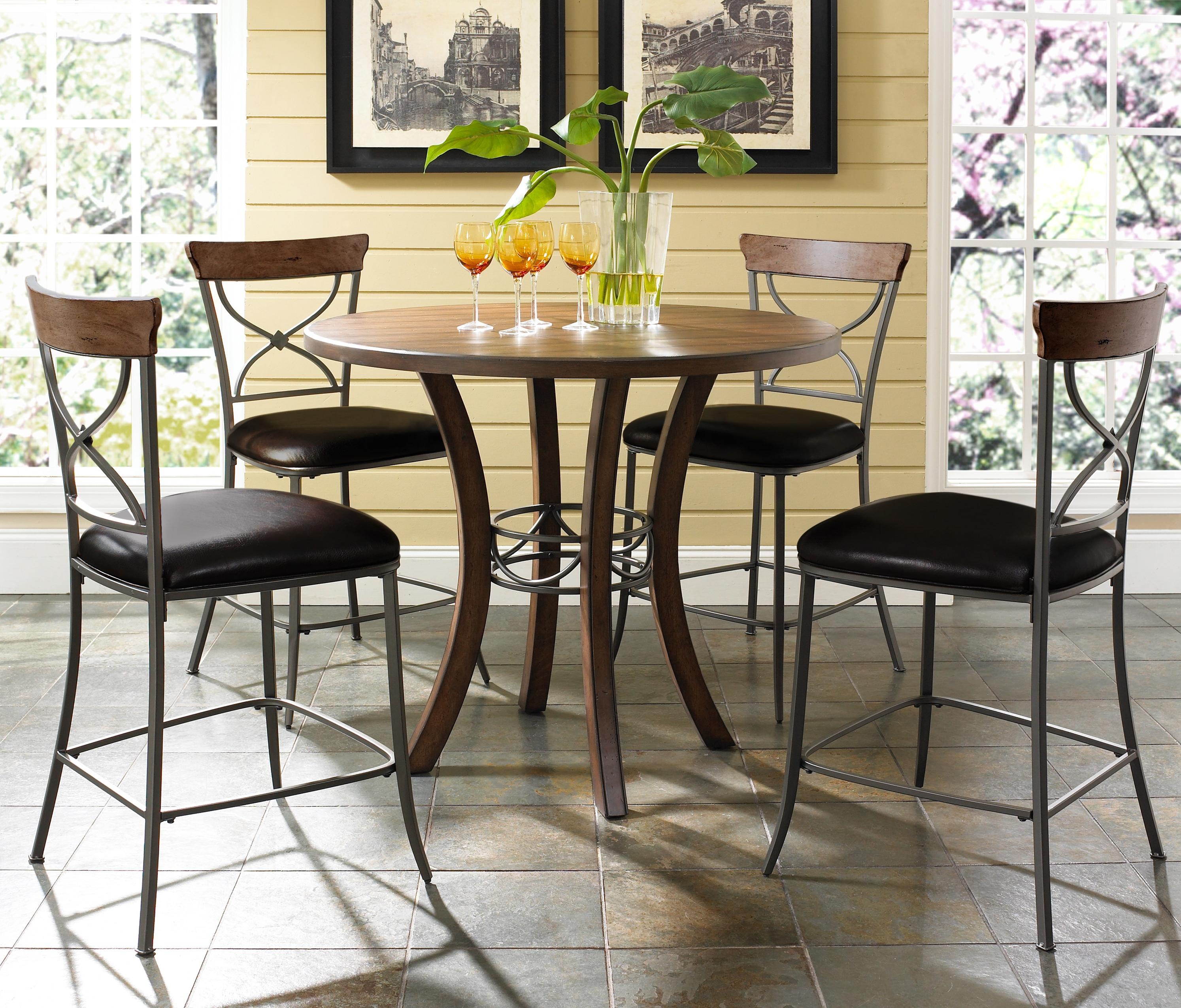 round wood counter height table by hillsdale wolf and gardin