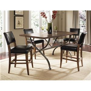 Hillsdale Cameron 5 Piece Counter Height Table & Stool Set