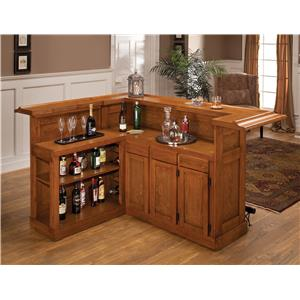 Hillsdale Classic Oak 625 Large Oak Bar with Side Bar