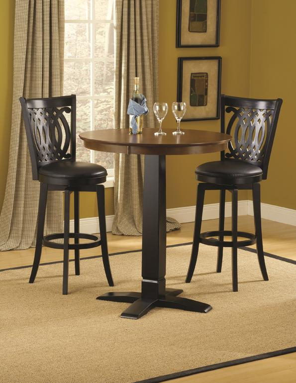 Bar Height Bistro Table and Swivel Chairs by Hillsdale | Wolf and ...
