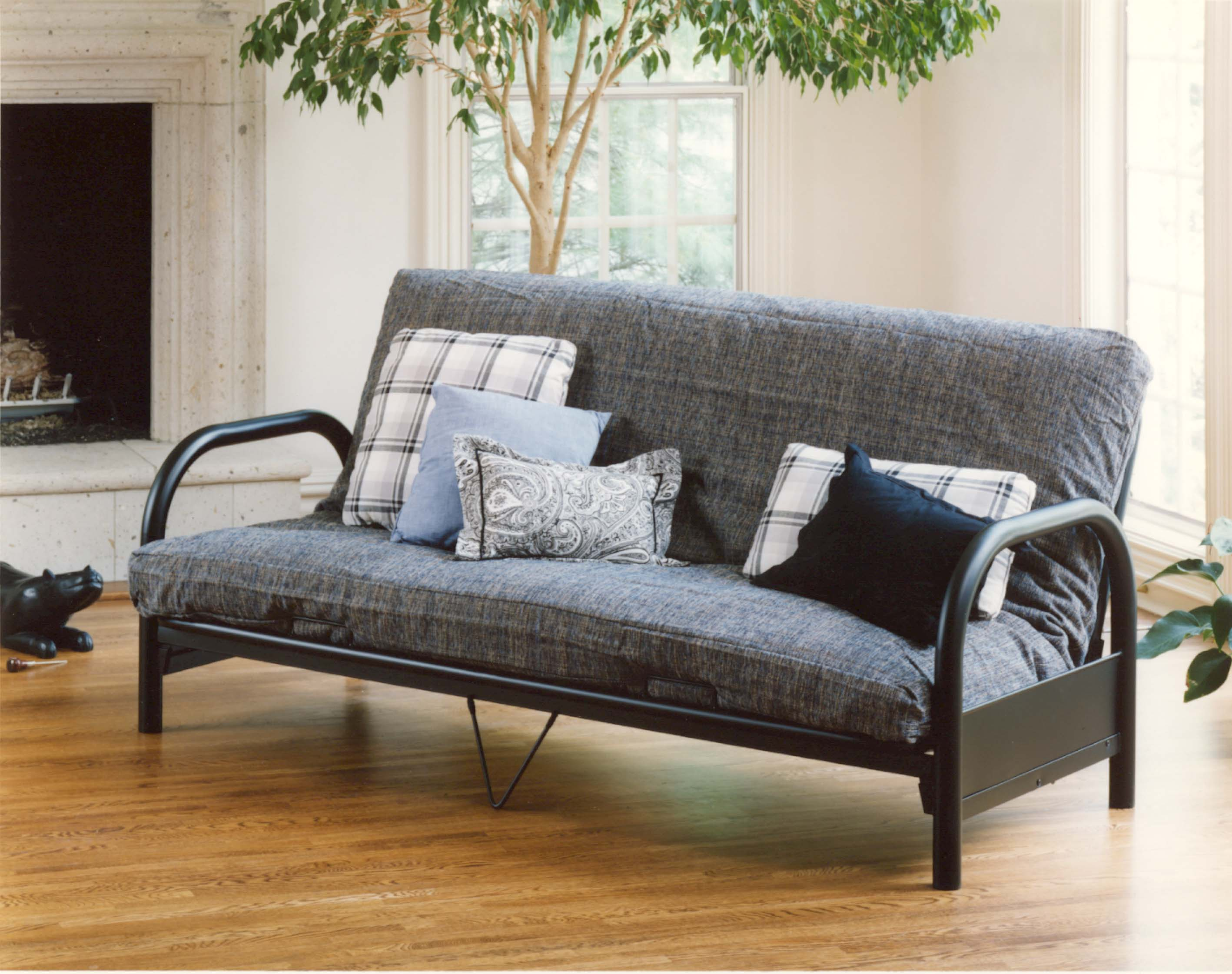 Full Futon with Curved Arms by Hillsdale