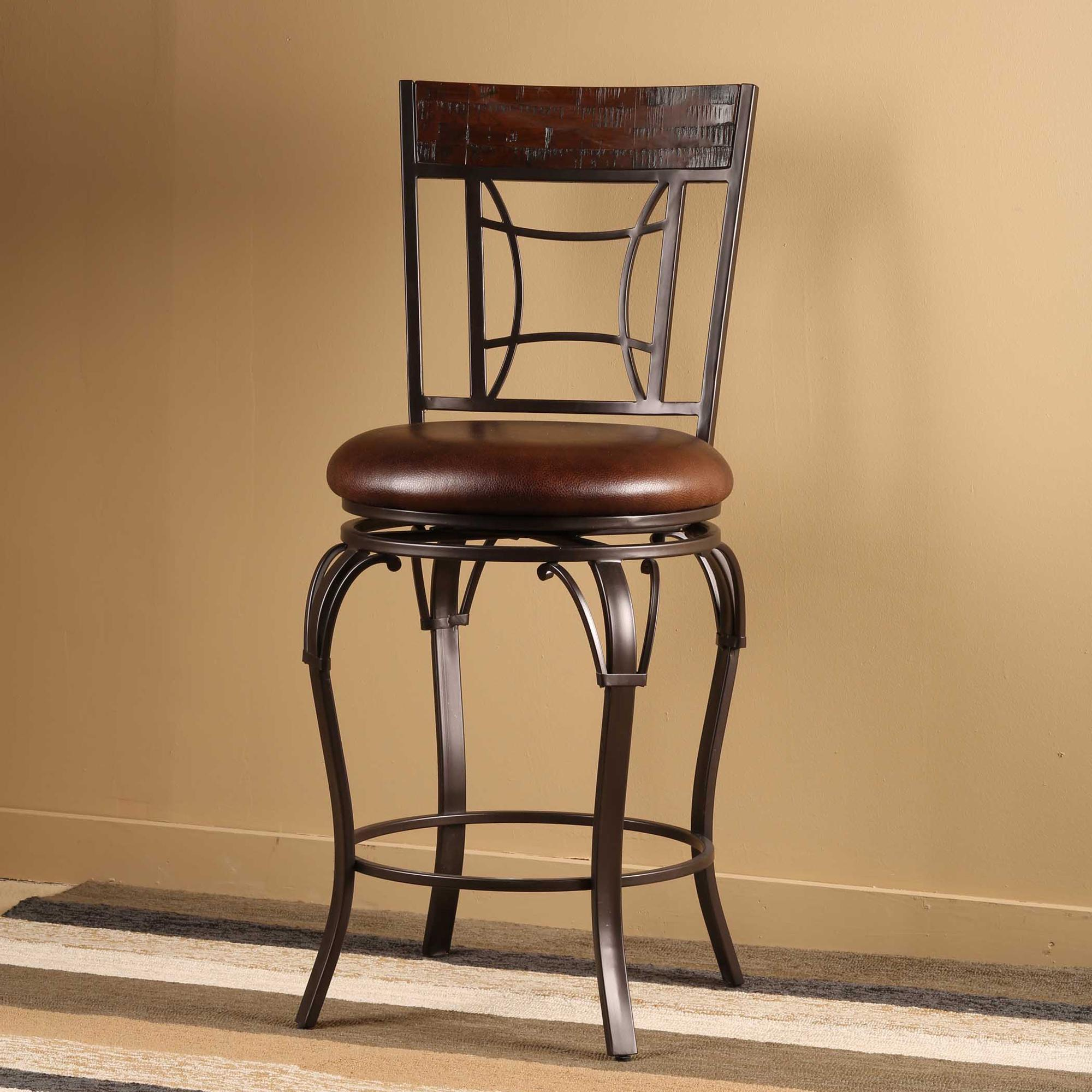 Swivel Bar Stool W Upholstered Seat By Hillsdale Wolf