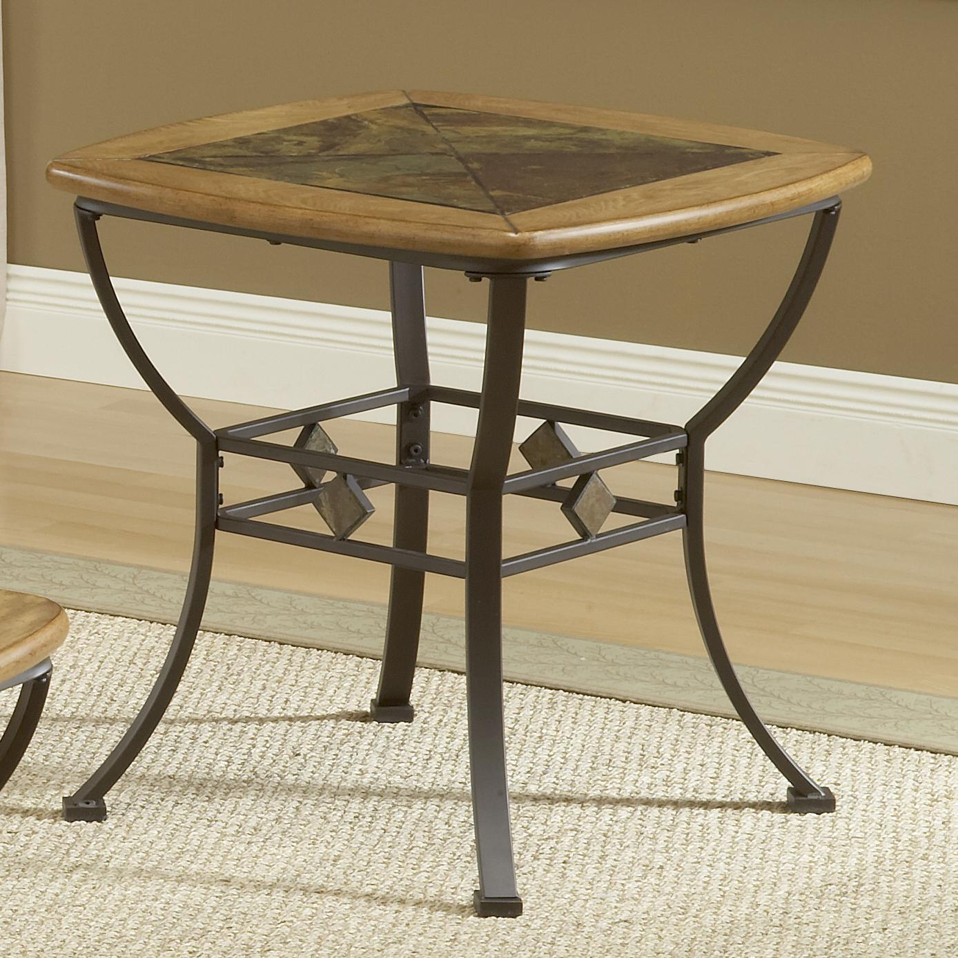 end table with wood slate top by hillsdale wolf and gardiner