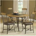 Hillsdale Lakeview 5-Piece Round Dining Set w/ Wood Chairs - Item Number: 4264DTBRDCW