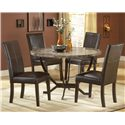 Hillsdale Monaco Upholstered Side Parson Dining Chair - Shown with Dining Table