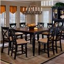 Hillsdale Northern Heights Nine Piece Counter Heigth Dining Set - Item Number: 4439DTBSG9