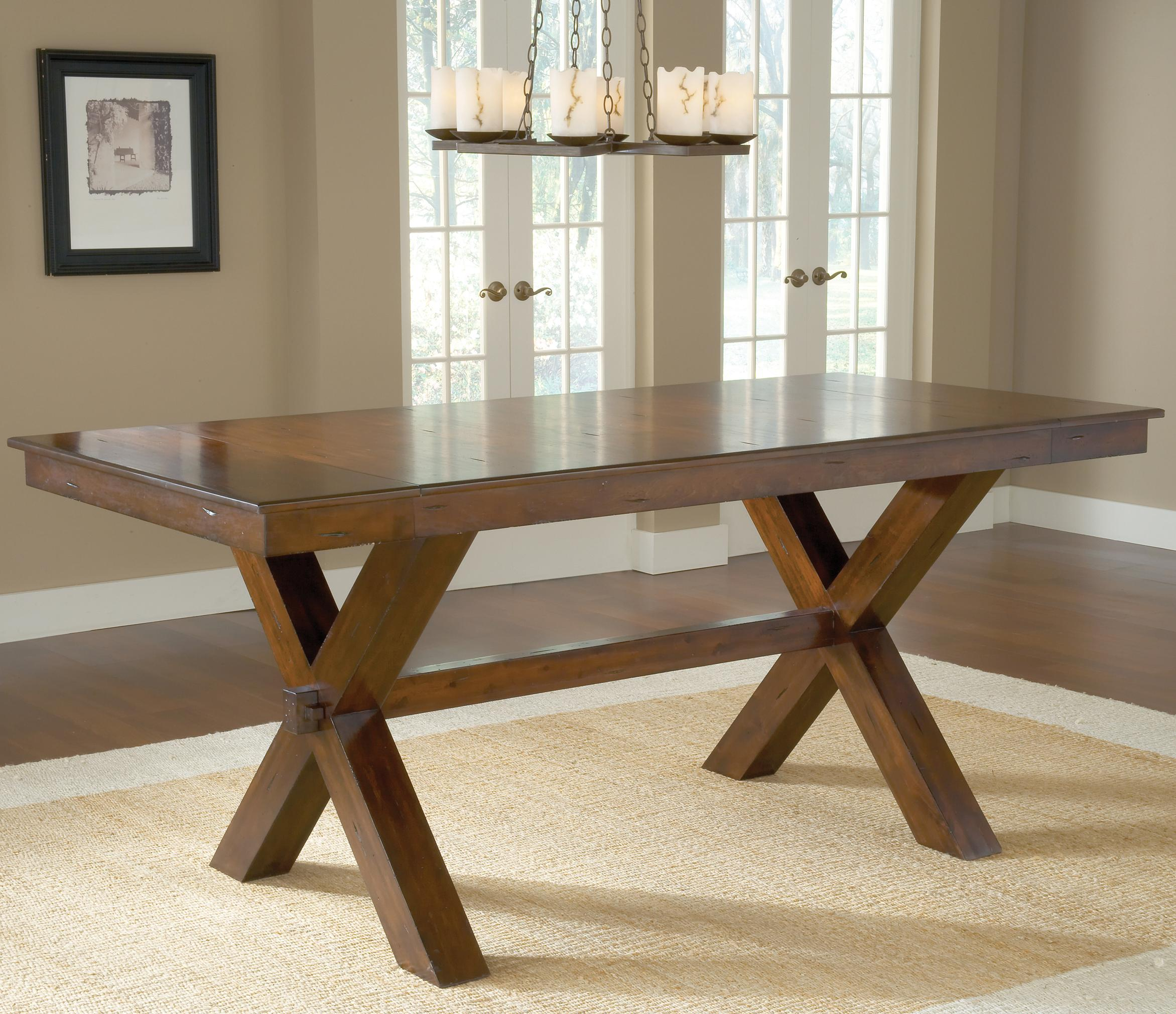 Counter height trestle table by hillsdale wolf and gardiner wolf counter height trestle table geotapseo Choice Image