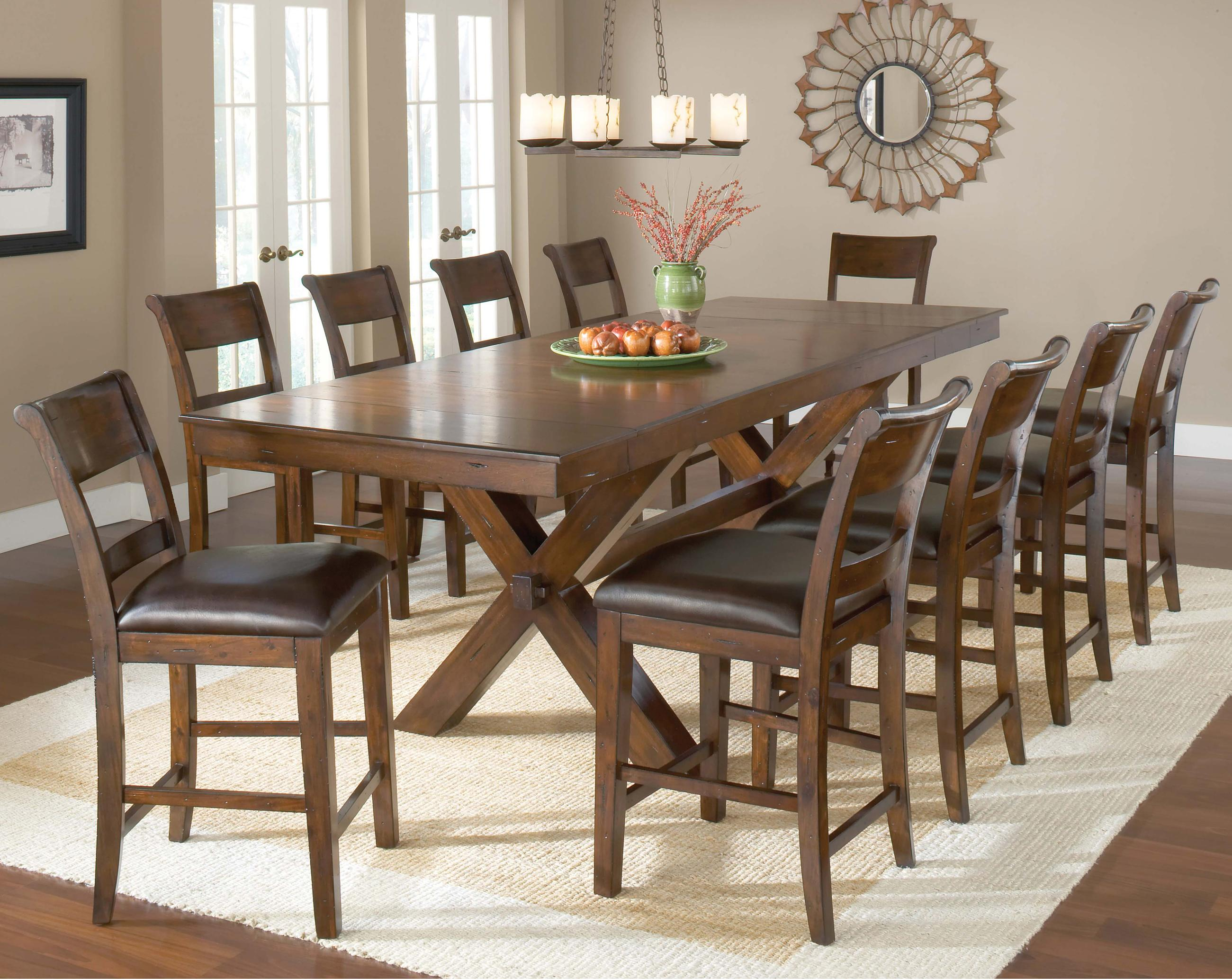 piece pub table and stool set by hillsdale  wolf and gardiner  -  piece pub table and stool set