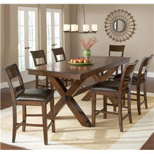 7 Piece Pub Table And Stool Set