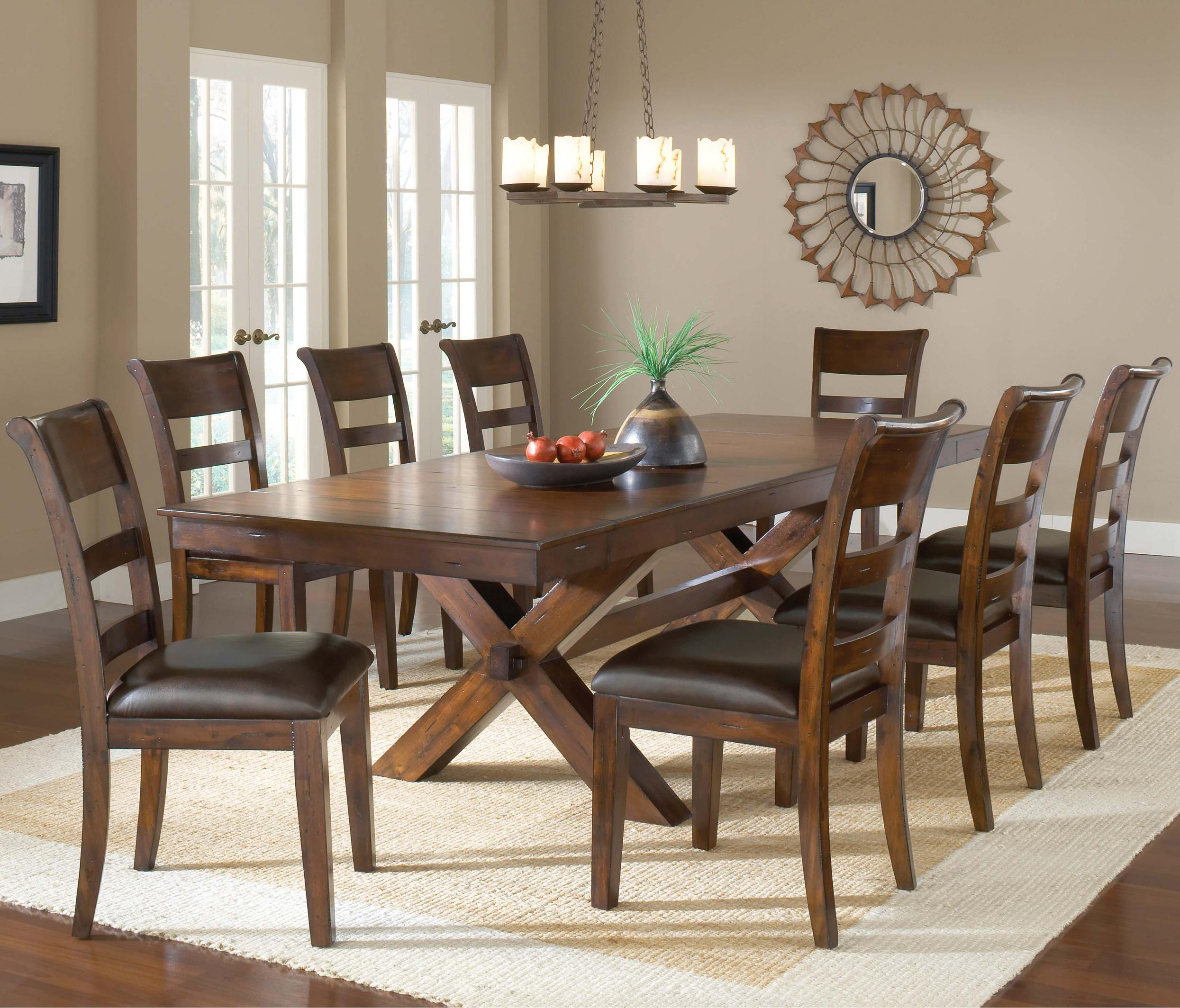 trestle dining table w
